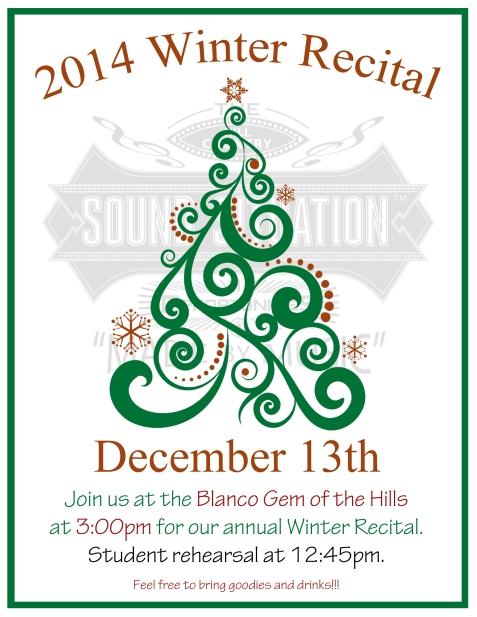 2014 Winter Recital Poster 2