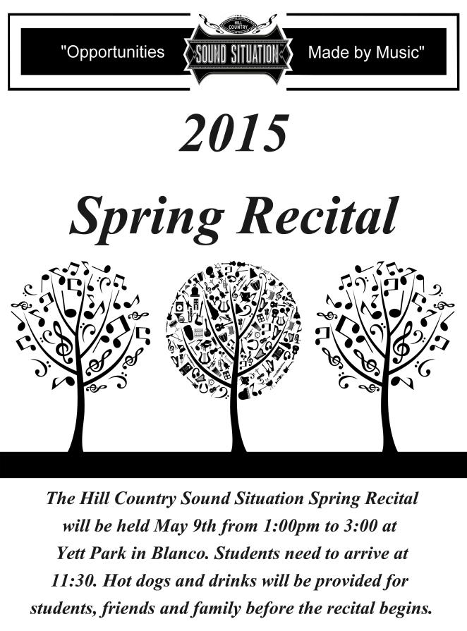 2015 Spring Recital Poster
