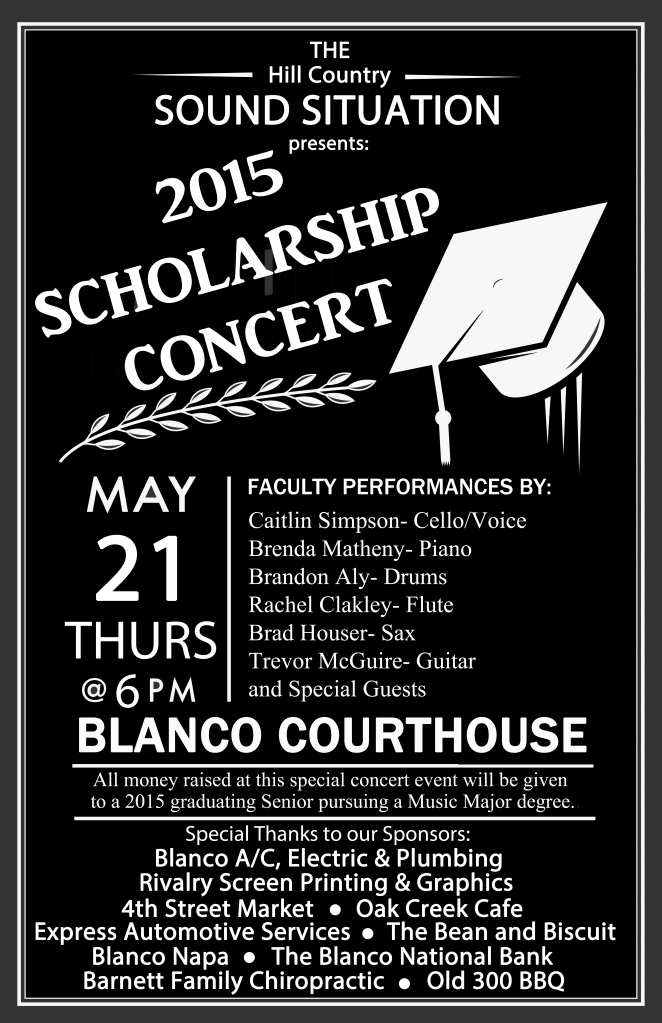 2015 Scholarship Concert Poster 2