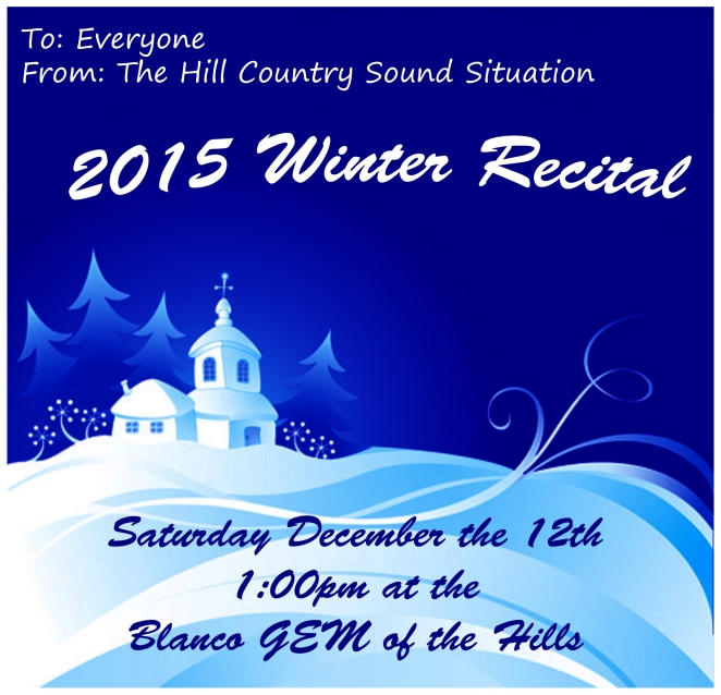 2015 Winter Recital Flyer