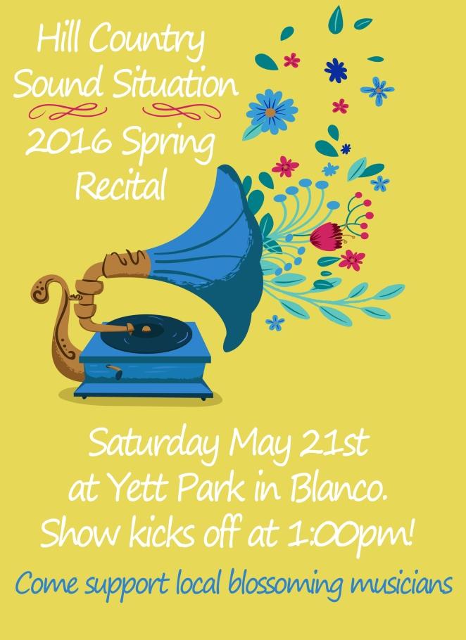 Spring Reciatl Poster