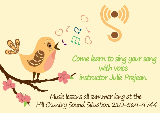 2016 Summer Voice Lessons