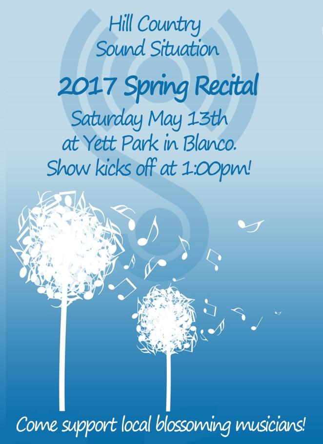 2017 Spring Recital Poster