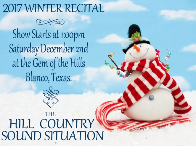 2017 Winter Recital Poster